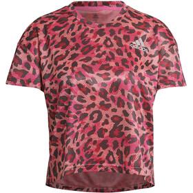 adidas Primeblue Maglietta a Maniche Corte Donna, rosa